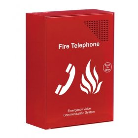 EVC301RPO: Red fire telephone outstation, handset (push)