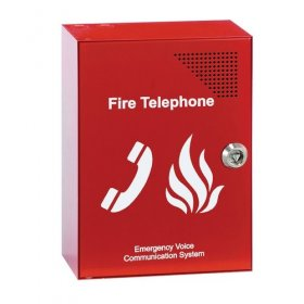 EVC301RLK: Red fire telephone outstation, handset (key)