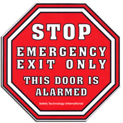 STI L6400: Alarm Warning Emergency Exit Sign 127H x 127W