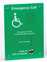 EVC302GF: Green Handsfree EVC Outstation, Flush Mounting